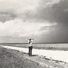 Robert Adams, Kerstin enjoying the wind. East of Keota, Colorado, 1969, gelatin silver print, National Gallery of Art, Washington, Pepita Milmore Memorial Fund and Gift of Robert and Kerstin Adams via artdixdaily.com