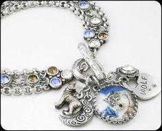 Wolf Bracelet Wolf Jewelry Wolves Jewelry by BlackberryDesigns, $78.00
