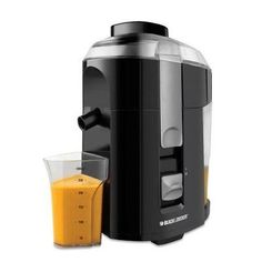 Black & Decker JE2200B 400-Watt Fruit and Vegetable Juice Extractor with Custom Juice Cup Skip the juice bar and get all your favorite fresh juices right from your counter. With 400 watts of power and