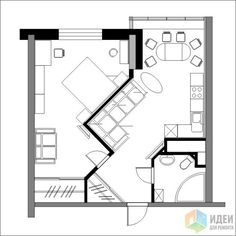 65 Ideas For Apartment Bedroom Design Layout Floor Plans The Plan, How To Plan, Apartment Layout, Apartment Design, Apartment Ideas, Small House Plans, House Floor Plans, Small Floor Plans, Bedroom Floor Plans