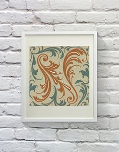 Arabesque 'N'  Lettering by LVSC on Etsy, $18.00