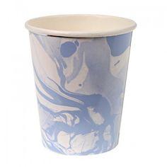 Blue Marble Paper Cups By Meri Meri