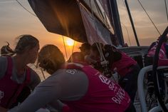 June 8, 2015. Leg 8 to Lorient onboard Team SCA. Day 1. Endless tacking up the Portuguese coast. The sun sets on another positive day Anna-Lena Elled / Team SCA / Volvo Ocean Race