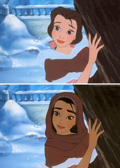 Racebent Disney - (Belle from Beauty and the Beast) An Artist Reimagined Disney Princesses With Different Races and the Results Will Blow Your Mind.