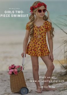 Your little sunshine will look lovely in this cut of yellow florals. This swimsuit has a dimension and individuality to complement her charming beach or pool look! Visit our store for more collections of little girls swimsuits. #mommy and me matching swimwear #girls two piece swimsuit #two piece swimsuits for girls #mommy and me unicorn swimsuit Big Girl Swimsuits, Two Piece Swimsuits, One Piece Swimsuit, Unicorn Swimsuit, Two Pieces, Look Cool, The Little Mermaid, Bathing Suits, Bikinis