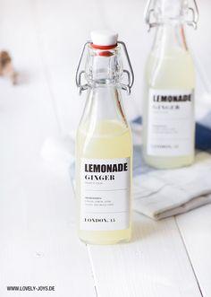 ... homemade lemon ginger lemonade ...