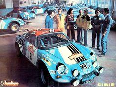 Renault sport classic car: Alpine.