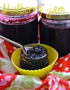 Mulberry jam - Claire K Creations Jelly Recipes, Jam Recipes, Whole Food Recipes, Fruit Recipes, Desert Recipes, Brunch Recipes, Mulberry Jam, Mulberry Tree, Cantaloupe Recipes