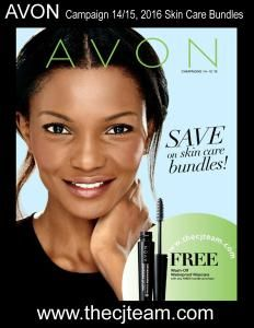 Avon Campaign 14/15, 2016 - Save big on Avon Skin Care Bundles and get a FREE Wash-off Waterproof Mascara!  Shop Avon Campaign 14/15 2016 online through July 6, 2016. #Avon#CJTeam#Campaign14 #Campaign15#Sale#Skincare Sell Avon Online @www.cjteam.us. Shop Avon Online @www.thecjteam.com