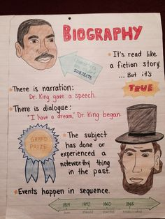 Elements of a biography anchor chart                                                                                                                                                                                 More