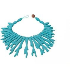 Susanna Valerio Panarea Coral Necklace ($76) ❤ liked on Polyvore
