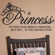 Princess Crown Fits Wall Decal