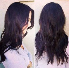 Long Wavy Ash-Brown Balayage - 20 Light Brown Hair Color Ideas for Your New Look - The Trending Hairstyle Purple Tinted Hair, Purple Brown Hair, Light Brown Hair, Brown Hair Colors, Dark Hair, Dark Brown Hair Rich, Ash Brown, Hair Colour, Brown Layered Hair