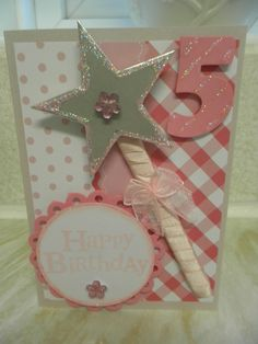 wand card- another idea for using paper straws on cards