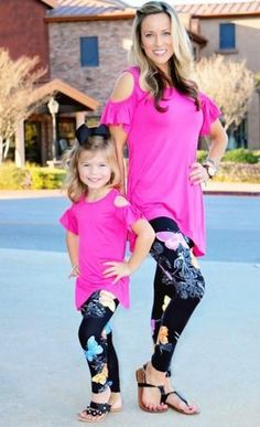 Mommy and Me Butterfly Leggins – Anabell & Isabella