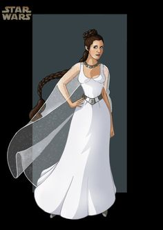 Princess Leia... this could be a wedding dress. Just saying. :]