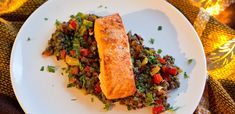 Čočkový salát s lososem Meatloaf, Ethnic Recipes