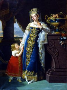 beautiful Russian dress, painting