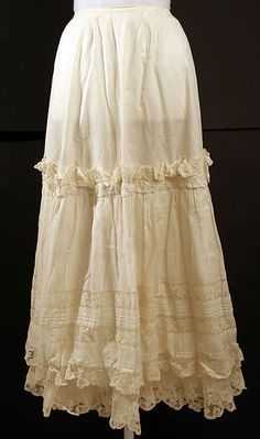 1894___ Petticoat, cotton. American.
