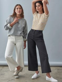 I want a pair of high waisted cropped pants for spring! Looks Street Style, Looks Style, Fall Outfits, Casual Outfits, Cute Outfits, Look Fashion, Fashion Outfits, Womens Fashion, Feminine Fashion