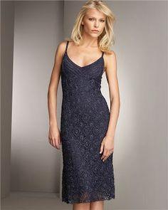 Мир хобби: Великолепное синее платье (вязание крючком)