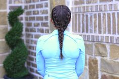 Boxer Braids..a Gym Hairstyle.  Plus produces great waves day 2!  #braids #boxerbraids #CGHboxerbraids #hairstyles #hairstyle #gymhairstyles #cutegirlshairstyles