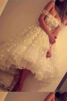 Prom Dresses 2019, Homecoming Dresses Short, Homecoming Dresses High Low, Prom Dress Lace, White Lace Homecoming Dresses, White Prom Dress #Prom #Dresses #2019 #White #Dress #Lace #Homecoming #Short #High #Low