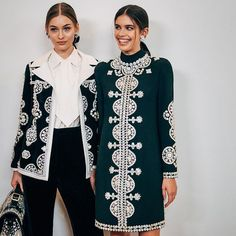 "The models Grace Elizabeth (@lovegrace_e) and @SaraSampaio pose backstage at @ToryBurch's fall/winter 2017 show which was held at the @WhitneyMuseum and inspired by Katharine Hepburn in the 1940 film ""The Philadelphia Story."" Photo by Alyssa Greenberg (@smallgirlbiglens).  via NY TIMES STYLE MAGAZINE OFFICIAL INSTAGRAM - Celebrity  Fashion  Haute Couture  Advertising  Culture  Beauty  Editorial Photography  Magazine Covers  Supermodels  Runway Models"