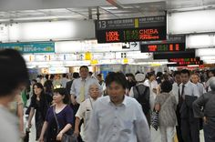 Rushhour in der Tokyo-Shinjuku Station, Japan