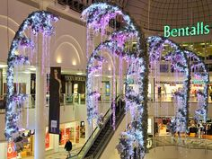 Bentalls is decorated for the holidays with their twinkly #lights and decor. #ledlights #festivallighting #holidaylights