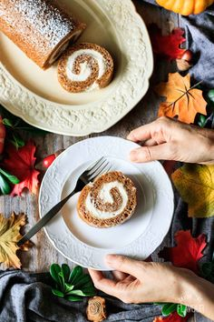 Easy Pumpkin Roll Easy Pumpkin Roll Recipe: learn how to make this easy Thanksgiving dessert from scratch! The pumpkin cake is moist with a smooth cream cheese filling. Family and friends will be impressed with this elegant, classic dessert this fall. Thanksgiving Desserts Easy, Fall Dessert Recipes, Great Desserts, Fall Desserts, Dinner Recipes, Pumpkin Roll Cake, Pumpkin Pie Bars, Pumpkin Dessert, Dessert From Scratch