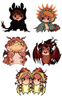 Chibi Dragon Riders