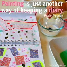 TinkerLab --- Creative Projects for Kids Art journals Keeping A Diary, Keeping A Journal, Projects For Kids, Art Projects, Project Ideas, Boost Creativity, Love Painting, Painting Quotes, Art Quotes