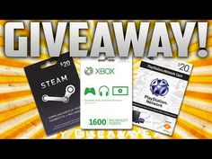 [+] Gamer Gift Card GIVEAWAY! [+] -- You Pick: 1600 Microsoft Points / PSN Cash / Steam Card! -