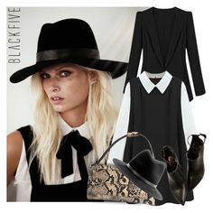 """MADEMOISELLE"" by tiziana-melera ❤ liked on Polyvore featuring rag & bone, blackandwhite, polyvoreeditorial, fall2014 and BlackFive"