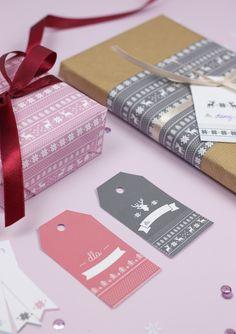 Etykiety prezentowe z norweskim wzorkiem (+papiery ozdobne!) • MAVELO