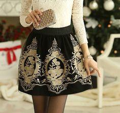 Falda-moda-de-invierno-falda-pantalón-de-cintura-alta-de-oro-bordado-de-tul-Skater-faldas.jpg (600×565)