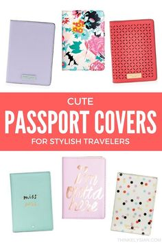 Cute passport covers for stylish travelers! Keep your passport protected and fashionable // http://thinkelysian.com