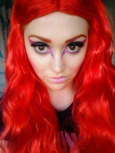 Alien makeup, colour, MUA cosmetics