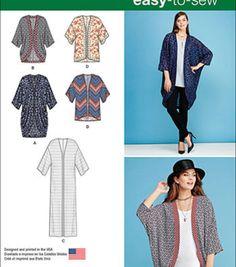 Simplicity Patterns Us1108A-Simplicity Misses' Kimono'S In Different Styles-Xxs-Xs-S-M-L-Xl-Xxl
