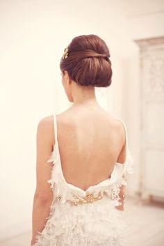 gorgeous back and updo