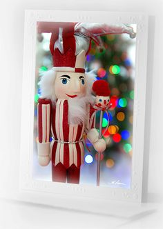 Nutcracker Christmas CARD Bokeh Photography by HPaquinPhotography