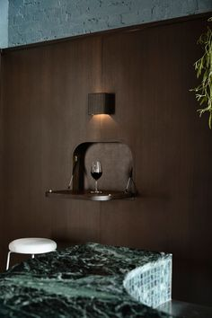 Stained Brick, Dining Booth, Interior Architecture, Interior Design, Commercial Architecture, Private Dining Room, Hospitality Design, Cool Bars, Restaurant Design