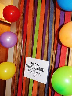 Get inspired by Theresa at Coffee Beans and Kisses and be your kid's school-day cheerleader by decorating his door with streamers and balloons while he's sleeping.