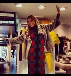 Elena barolo wearing stefanel dress!