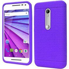 Insten Rugged Silicone Skin Gel Rubber Case Cover For Motorola Moto G