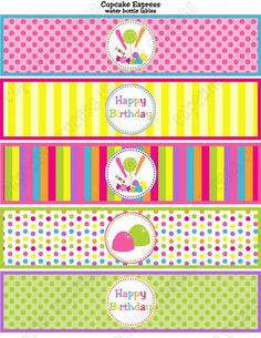 CANDY SHOPPE PRINTABLE WATER BOTTLE LABELS