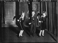"""The Dolly Sisters doing """"The Dirty Dig"""" dance, 1927"""
