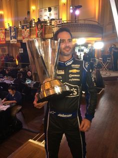 Caught @JimmieJohnson snagging a #selfie with @NASCAR Sprint Cup! He's going for #7 this year! -JW (Twitter: Miss Sprint Cup @MissSprintCup)