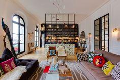 Salon- salle à manger  Appartement parisien 240m2- GCG Architectes